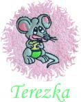 Dětská osuška s výšivkou - MYŠKA a jméno