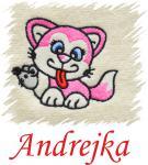 Dětský ručník s výšivkou - KOČIČKA S MYŠÍ a jméno