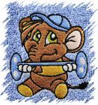 Dětský ručník s výšivkou - SLON SILÁK