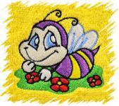 Dětský ručník s výšivkou - VESELÁ VČELKA