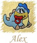 Dětský ručník s výšivkou - DINO a jméno