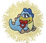 Dětská osuška s výšivkou - DINO