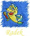 Dětský ručník s výšivkou - MOŘSKÝ KONÍK a jméno