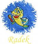 Dětská osuška s výšivkou - MOŘSKÝ KONÍK a jméno
