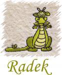 Dětský ručník s výšivkou -  DRÁČEK a jméno