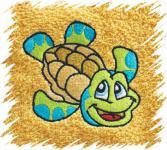 Dětský ručník s výšivkou - ŽELVIČKA