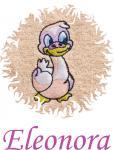 Dětská osuška s výšivkou - KACHNIČKA a jméno