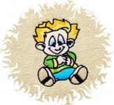Dětská osuška s výšivkou - KLUK NEPOSEDA