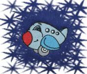 Ručník s výšivkou - LETADLO