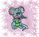 Ručník  s výšivkou - MYŠKA
