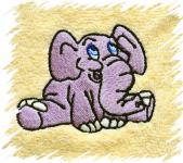 Dětský ručník s výšivkou - SLONÍK