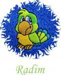 Dětská osuška s výšivkou -  PAPOUŠEK a jméno