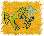 Dětský ručník s výšivkou - RYBIČKA