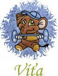 Dětská osuška s výšivkou - SLON SILÁK a jméno