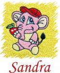 Dětský ručník s výšivkou - RŮŽOVÝ SLON a jméno