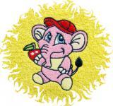 Dětská osuška s výšivkou - RŮŽOVÝ SLON
