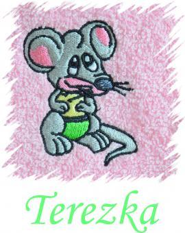 Dětský ručník s výšivkou - MYŠKA a jméno