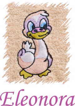 Dětský ručník s výšivkou -  KACHNIČKA a jméno