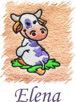 Dětský ručník s výšivkou  - KRAVIČKA a jméno