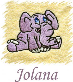 Dětský ručník s výšivkou - SLONÍK a jméno