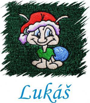 Dětský ručník s výšivkou - PAVOUK a jméno