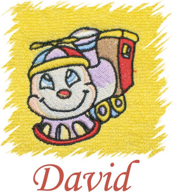 Dětský ručník s výšivkou - LOKOMOTIVA a jméno